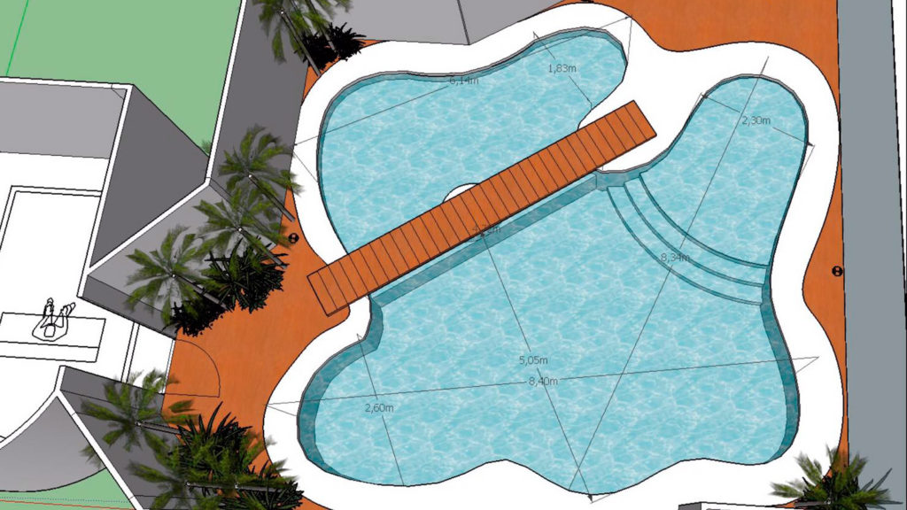 Planos de piscinas piscina con jaccuzzi piscina diseada for Planos para piscinas